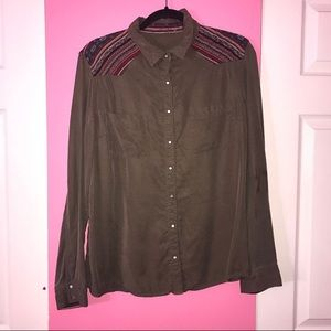 Vintage Long Sleeve Button Down Shirt